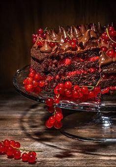 Rybízový čokoládový dort. Snadněji tonejde! - Proženy Sweets, Foodies, Competition, Groom, Cakes, Healthy, Board, Kitchen, Kitchens