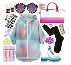 """""""133.0"""" by queen-kc ❤ liked on Polyvore featuring Monki, Aiayu, Furla, Bonne Bell, Clips and House of Holland"""