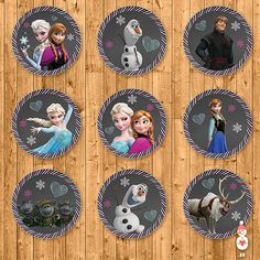 Printable Frozen Cupcake Toppers / Stickers by CoolEtsyPrintables, $3.50
