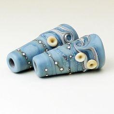 Handmade SRA Lampwork Glass Bead Cones by StoneDesignsbySheila