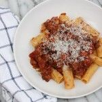 This recipe cooks slowly and gets a deep, layered flavour. You won't miss the red meat at all. It also keeps well in the fridge. on goop.com. http://goop.com/recipes/turkey-ragu/