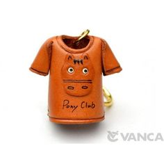 GENUINE 3D LEATHER HORSE T-SHIRT KEYCHAIN MADE BY SKILLFUL CRAFTSMEN OF VANCA CRAFT IN JAPAN. #handmade #keyfob #gift #unique #art #design #cute #animal