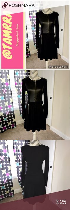 Little Black Dress Like really new. Worn once. No imperfections. Could fit up to size 4. In a size 2 and it's not form fitting. Faux leather chest area. Dresses Mini