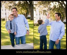 © Corinna Hoffman Photography - www.corinnahoffman.com - Family Portrait Session - Jacksonville, Florida - Jacksonville, FL Family Photographer - Memorial Park - Dad & Son