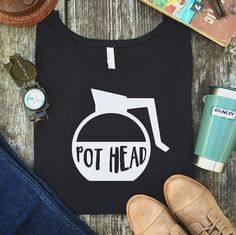 We all have our vices... Pot head. Coffee addict. Caffeine. Coffee shirt. Comfy graphic tee. The Plaid Deer. Funny shirt.