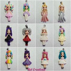 Unicorn girls. Bamboline fatte a mano in fimo. dolls handmade in polymerclay