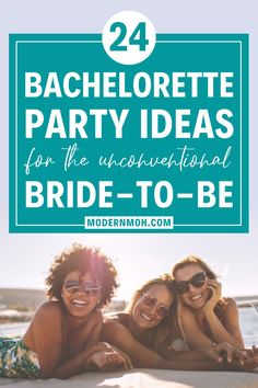 Skip the basic and boring for any number of these 24 unique bachelorette party ideas, perfect for the unconventional bride and her squad! #bachelorettepartyideas #classybachelorettepartyideas #bachelorettepartyideasonabudget #ModernMaidofHonor #ModernMOH