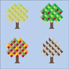 Quiltmaker's 100 Blocks Volume 7, Apple Trees in Season by June Dudley