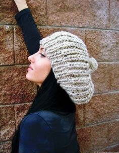 On the hunt for a great slouchy hat, and this is a wonderful option. Yay for handmade goodies on Etsy!