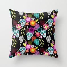 Dias De Los Muertos Throw Pillow by Anneline Sophia - $20.00