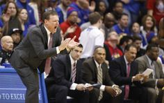 Kansas head coach Bill Self encourages his defense against Toledo during the first half on Monday, Dec. 30, 2013 at Allen Fieldhouse. #KU