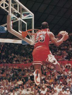 Michael Jordan Flying
