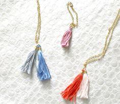 tassel-necklace-multi Diy Necklace, Tassel Necklace, Necklaces, Bracelets, Diy Tassel, Tassels, Crafts To Do, Anklets, Craft Stores
