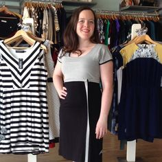 Need something ideal for running from the office to dinner? This #adorable #striped #dress by #frett fits the bill perfectly!  #workshopboutique #ottawa #madeincanada #madeinmontreal #slowfashion #canadianfashion #canadiandesign #ottawastyle #shopottawa #shoplocal #colourblocked