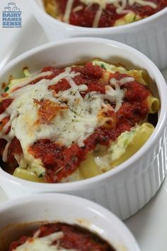 Baked Zucchini Ziti | Satisfying & Delicious! | Perfect for Meatless Monday | Only 334 Calories | For MORE RECIPES please SIGN UP for our FREE NEWSLETTER www.NutritionTwins.com