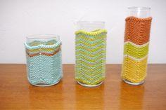 Missoni-Style Vase Cozie via @Craft
