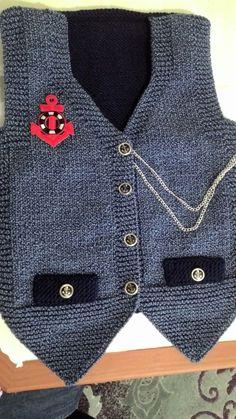 when my little pocket – benim yaptıklarım – # tissue - Knitting Baby Boy Vest, Baby Boy Cardigan, Knitted Baby Cardigan, Baby Pullover, Knitting Patterns Uk, Knitting Designs, Toddler Poncho, Baby Boy Knitting, Baby Sweaters