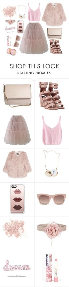 """pretty in pink"" by genesisdallas ❤ liked on Polyvore featuring Givenchy, Laurence Dacade, Chicwish, Pam & Gela, Casetify, STELLA McCARTNEY, Bare Escentuals, New Look, LAQA & Co. and jane"