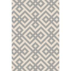 Mercer41 Luke Hand-Hooked Light Gray Area Rug Rug Size:
