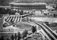 Initial project of Aztec Stadium complex , Tlalpan, Mexico City, Mexico