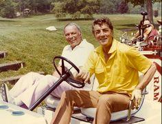 Dean & Frank playing golf.