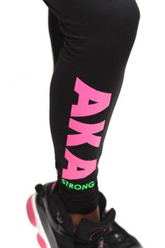 Power Club AKA Strong advanced leggings black - Leggings Black - Ideas of Leggings Black - Every woman who is serious about fitnessneeds a staple pair of solid leggings. Think of these like bread eggs and milkto your grocery list. Aka Sorority Gifts, Alpha Kappa Alpha Sorority, Sorority Outfits, Sorority Life, Sorority Fashion, Printed Leggings, Black Leggings, Women's Leggings, Cheap Leggings