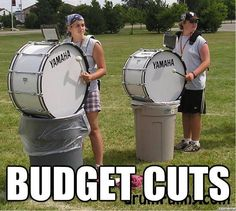 I laughed but then I felt bad because their probably destroying the drums