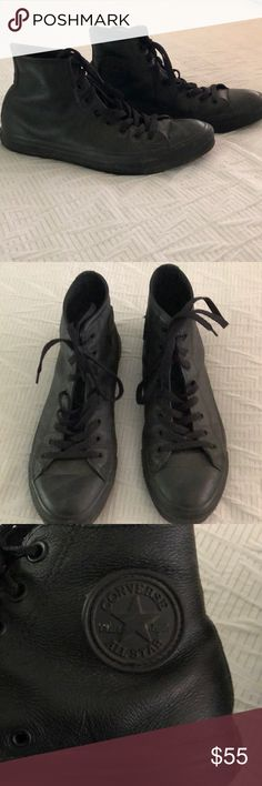 79cf62c47e3f Shop Women s Converse Black size 10 Sneakers at a discounted price at  Poshmark.