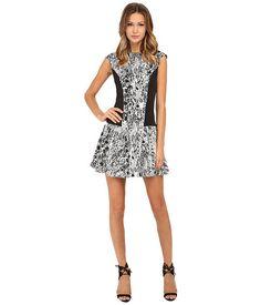 Ted Baker Snake Jacquard Jersey Dress Black - 6pm.com