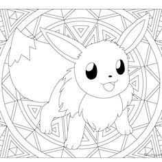 free printable pokemon coloring page eevee coloring fun for all ages adults and children