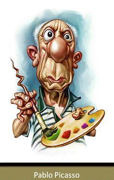 Linda caricatura !!! Um olhar bem humorista do Pablo Picasso. Parabéns ao autor da arte. Abs das Gêmeas Paraenses