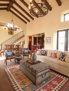 High ceilings with brown panelling accents Mediterranean Home Mediterranean Interiors Design Ideas, Pictures, Remodel, and Decor - page 3 Mediterranean Living Rooms, Mediterranean Decor, Mediterranean Architecture, Home Design, Design Ideas, Design Inspiration, Living Room Designs, Living Room Decor, Home Interior