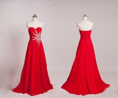 Image of Red Sweetheart Long Prom Dresses Red Prom Gowns, Formal Dresses Homecoming Dresses Long, High Low Prom Dresses, Prom Dresses 2016, Unique Prom Dresses, Backless Prom Dresses, Prom Party Dresses, Sexy Dresses, Evening Dresses, Dress Prom