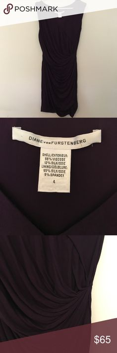 Diane Von Furstenburg plum francia dress Drapes beautiful! Purple dress by DVF! Diane von Furstenberg Dresses Mini