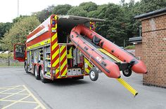 It's a fire engine... with a boat!