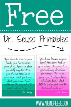 Oh! The Places You'll Go Printables