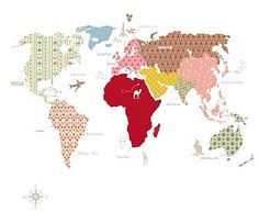 This goes on the bed wall   Whole Wide World Wall Panel A fun and educational Map of the World wall panel.