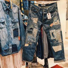 Ripped Denim, Levis Jeans, Men's Denim, Vintage Denim, Vintage Fashion, Vintage Style, Boro, Denim Fashion, Distressed Jeans