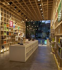 Bento store sao paulo designed by architect leticia nobell. Commercial Design, Commercial Interiors, Bento Store, Visual Merchandising, Bookstore Design, Retail Architecture, Book Cafe, Retail Interior, Shop Window Displays