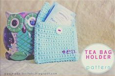 Crochet Tea Bag Holder Pouch « The Yarn Box