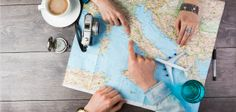 Young couple planning honeymoon vacation trip with map. Pointing to Europe Rome - stock photo Honeymoon Vacations, Vacation Days, Summer Vacations, Honeymoon Destinations, Vacation Spots, Top Travel Websites, Travel Tips, Travel Expert, Travel Books
