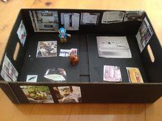 Cardboard Box Dolls House - My Kid Craft