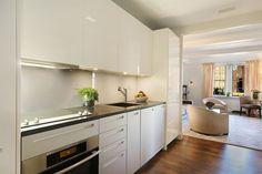 Pretty, small kitchen.