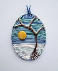 Winter Sun designer wire pendant