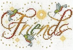 Friends Cross Stitch Kit 2876