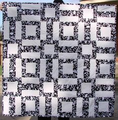 Black and White throw. The free pattern is on my website. Fabricmom.com