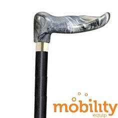 Alex Orthopedics - 40367 - Wood Cane with Gray Marble Palm Grip Handle, Right