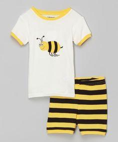 Leveret Girl/'s Size 6 2 Pc Pajama Set Long Sleeve//Pant Bumble Bee Yellow Black
