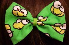 Kawaii Frog Bow by MischievousArtistry on Etsy