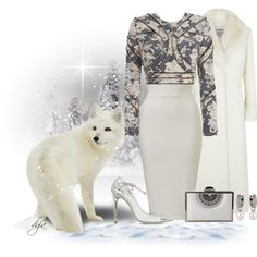 White fox by dgia on Polyvore featuring polyvore, fashion, style, Zimmermann, Jacques Vert, Loriblu and Inge Christopher